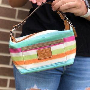 Striped colored Coach bag